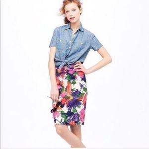 J.CREW The Pencil Garden Floral Skirt Sz.8 $138